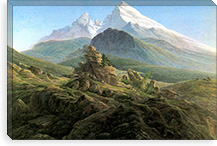 The Watzmann By Caspar David Friedrich Canvas Print #15254