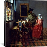 The Wine Glass By Johannes Vermeer Canvas Print #1517
