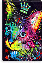 Thinking Cat Crowned By Dean Russo Canvas Print #4211