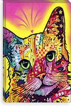Tilt Cat By Dean Russo Canvas Print #4213