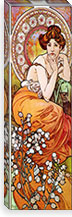 Topaz, 1900 By Alphonse Mucha Canvas Print #15207