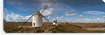 Traditional windmill on a hill, Consuegra, Toledo, Castilla La Mancha, Toledo province, Spain #PIM7323