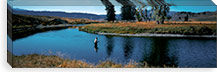 Trout fisherman Slough Creek Yellowstone National Park WY  #PIM278