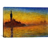 Twilight in Venice By Claude Monet Canvas Print #1027
