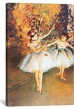 Two Dancers on Stage (alla Barra) By Edgar Degas Canvas Print #1329