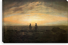 Two Men by the Sea By Caspar David Friedrich Canvas Print #15247