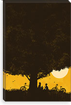 Under Giant Oak Tree By Budi Satria Kwan Canvas Print #13843