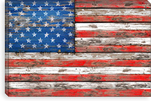 USA Vintage Wood By Maximilian San Canvas Print #MXS30