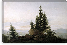 View of the Valley of the Elbe By Caspar David Friedrich Canvas Print #15035