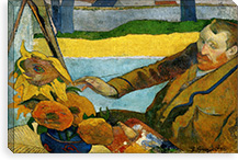 Vincent van Gogh Painting Sun Flowers By Paul Gauguin Canvas Print #14088