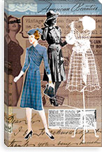 Vintage Fashion Canvas Print #1 By Luz Graphics Canvas Print #LUZ9