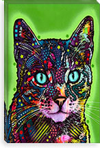 Watchful Cat By Dean Russo Canvas Print #4214