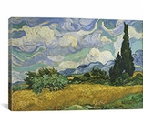 Wheatfield with Cypresses 1889 by Vincent van Gogh Canvas Print #1011