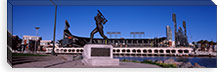 Willie Mays statue in front of a baseball park, AT&T Park, 24 Willie Mays Plaza, San Francisco, California, USA #PIM8894