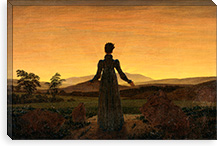 Woman Before the Rising Sun By Caspar David Friedrich Canvas Print #15034