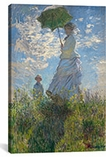 Woman with a Parasol (Madame Monet and Her Son) 1875 By Claude Monet Canvas Print #1025