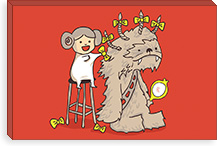 Wookie Is A Wonderful Friend By Budi Satria Kwan Canvas Print #13846
