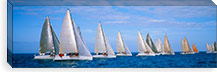 Yachts in the ocean, Key West, Florida, USA #PIM3196