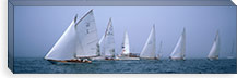 Yachts racing in the ocean, Annual Museum Of Yachting Classic Yacht Regatta, Newport, Newport County, Rhode Island, USA #PIM6883