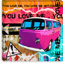You Love Me By Luz Graphics Canvas Print #LUZ1