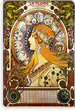 Zodiac (1896) By Alphonse Mucha Canvas Print #15182
