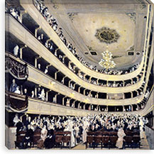 Zuschauerraum im alten Burgtheater (The Old Burgtheater) By Gustav Klimt Canvas Print #14012