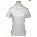 Adidas- Climacool� Mesh Textured Stripe Ladies Short Sleeve Polo