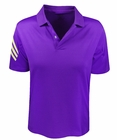 Adidas Golf- Boys Puremotion 3-Stripes Sleeve Polo