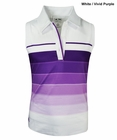 Adidas Golf- Girls ClimaLite Bold 3-Stripes Sleeveless Polo