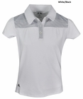 Adidas Golf- Girls Puremotion Dot Yoke Polo