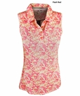 Adidas Golf- Ladies Climalite Advance Floral Sleeveless Polo