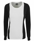 Adidas Golf- Ladies Long Sleeve Round Neck Color Block Sweater