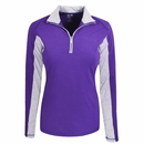 Adidas Golf- Ladies Microstripe Block 1/2-Zip Pullover