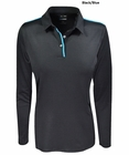 Adidas Golf- Ladies Puremotion Long Sleeve Solid Polo