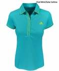 Adidas Golf- Ladies Puremotion Solid Piped Polo