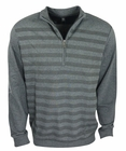 Ashworth Golf- French Terry Herringbone Print 1/2 Zip Pullover