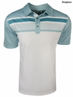 Ashworth Golf- Performance Engineered Print Stripe Polo