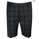 Ashworth Golf- Performance Flat Front Plaid Shorts