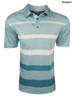 Ashworth Golf- Performance Gradient Print Stripe Polo