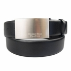 Beverly Hills Polo Club- 35mm Nappa BHPC Engraved Plaque Buckle Belt