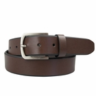 Beverly Hills Polo Club Golf- Leather Belt Beveled Dyed Edges