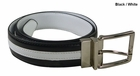 Beverly Hills Polo Club- Nappa Contrast Overlay Reversible Belt