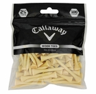 "Callaway Golf- Premium Hardwood Tees 2 1/8"" Natural (100 Count)"