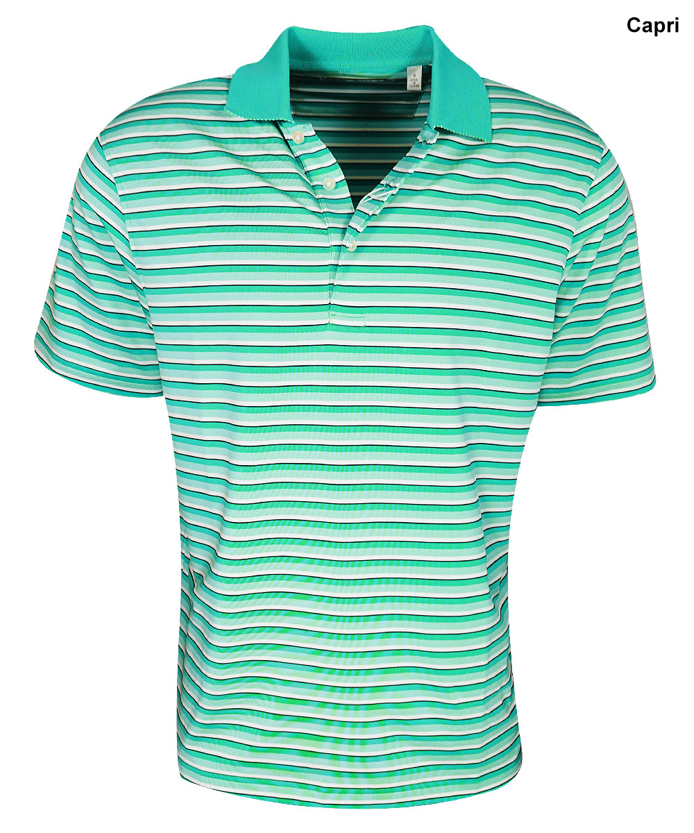 Carnoustie Golf- Players Stripe Performance Polo