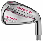 Cobra Golf- LH Ladies King F6 Combo Irons Graphite (Left Handed)