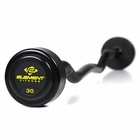 Element Fitness Commercial Rubber Round Curl Bar Set 20 lbs - 110 lbs