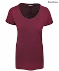Cutter & Buck Ladies Double Team Scoop Neck T-Shirt