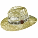 Dorfman Pacific Golf- Rush Straw Safari Hat with Golf Band