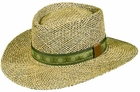 Dorfman Pacific Golf- Seagrass Gambler Hat with Golf Band