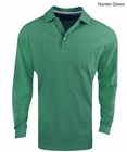 Edwards- Cotton Long Sleeve Pique Polo